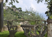 a garden on the mediterranean coast